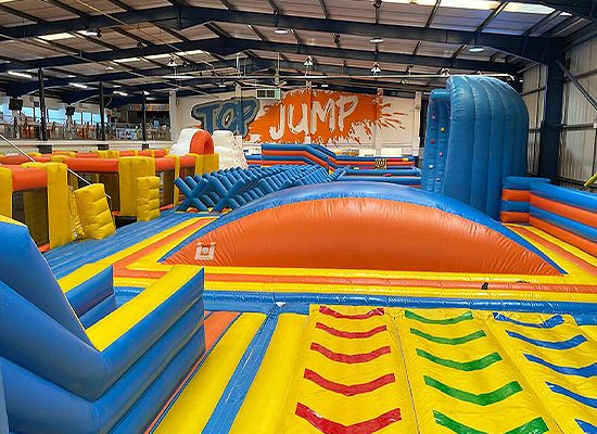 TopJump Inflatable Park & TopVR Fitness Class Kids Fun Days Out Exercise Inflatables Disco Nights VR Virtual Reality Games Arcades Cafe Kids Parties Milton Keynes Adult Fun
